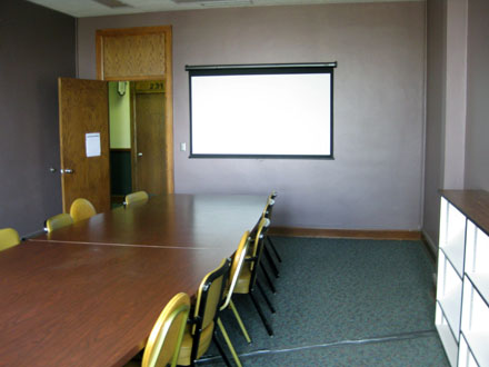 A shared conference room is available for commercial use