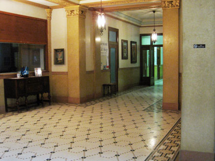 Entrance to office 102 off of the lobby